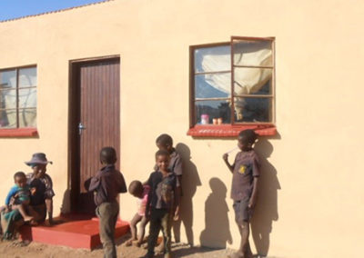 House built recently for a family of 10 children who also receive nutrition every month
