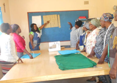 Trying to empower a group women through sewing